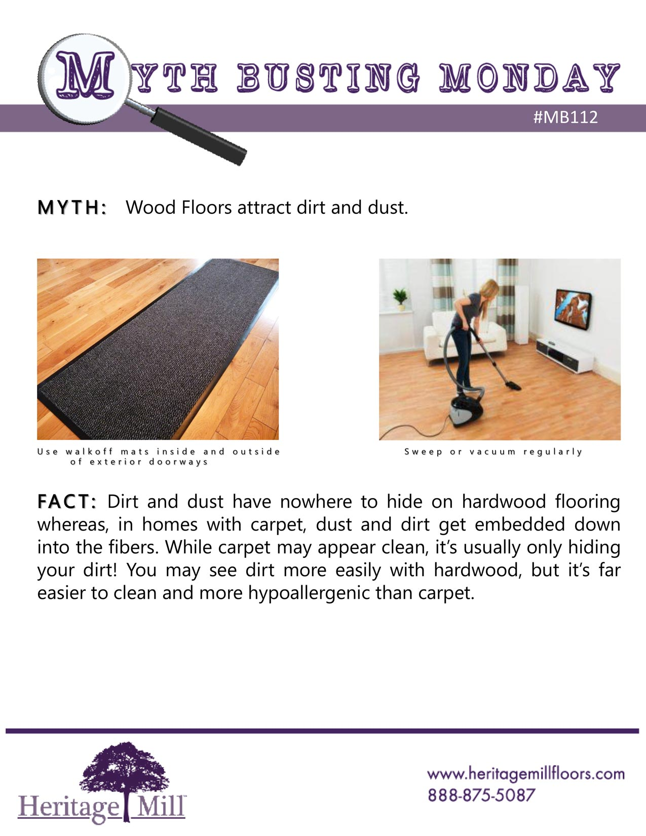 Myth Wood Floors Attract Dirt And Dust