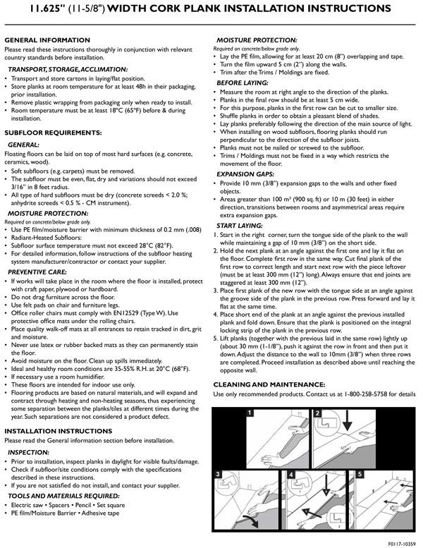 Instructions Heritage Mill Wood Flooring
