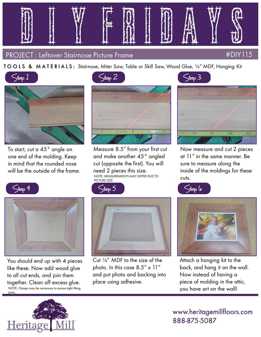 Diy Project Leftover Stairnose Picture Frame Heritage