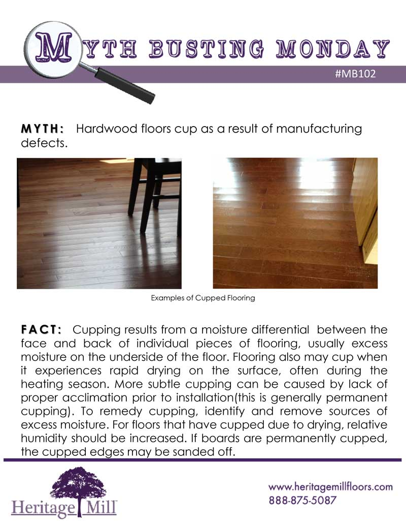 Myth Hardwood Floors Cup As A Result Of Manufacturing